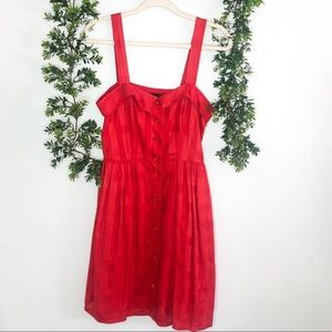 Marc By Marc Jacobs Ruby Red Button Front Dress